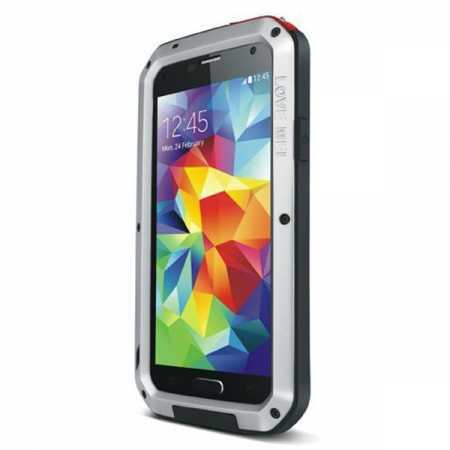 Waterproof Aluminum Gorilla Metal Cover Case For Samsung Galaxy S5 - Silver
