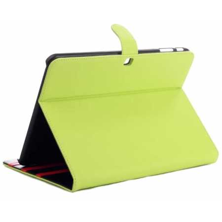 Fashion New Folio Leather Stand Case For Samsung Galaxy Tab 4 10.1 T530 - Green