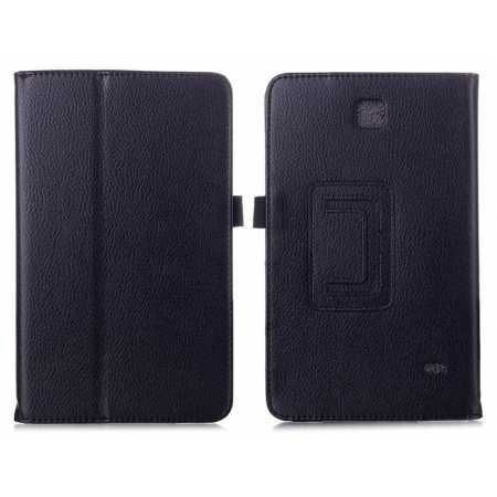 Lychee Leather Pouch Case With Stand for Samsung Galaxy Tab 4 7.0 T230 - Black