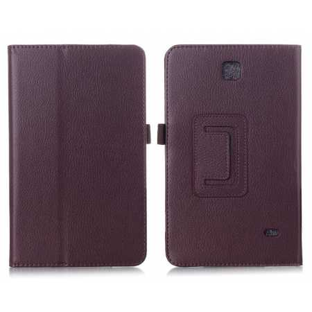 Lychee Leather Pouch Case With Stand for Samsung Galaxy Tab 4 7.0 T230 - Brown