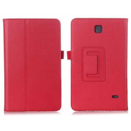 Lychee Leather Pouch Case With Stand for Samsung Galaxy Tab 4 7.0 T230 - Red