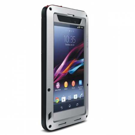 Waterproof Aluminum Gorilla Metal Cover Case For Sony Xperia Z1 - Silver