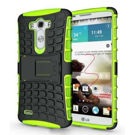 Heavy Duty Strong Hard TPU Case Cover Stand For LG G3 - Green