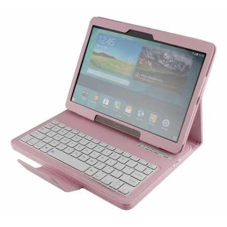 Bluetooth Keyboard Leather Case Cover For Samsung Galaxy Tab S 10.5 T800 - Pink