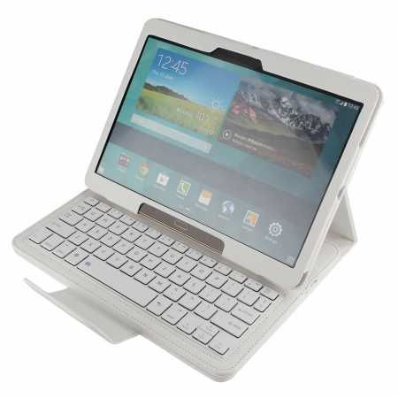 Bluetooth Keyboard Leather Case Cover For Samsung Galaxy Tab S 10.5 T800 - White