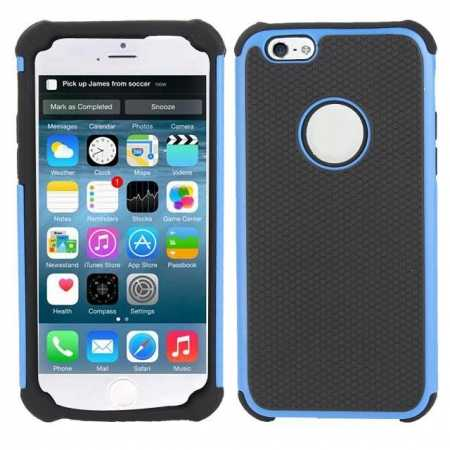 "Rugged Impact Hybrid Hard Back Case Cover For 4.7"" iPhone 6 - Blue"