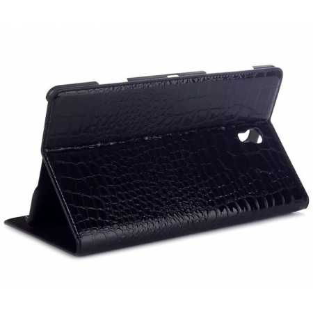 Crocodile Wallet Leather Case Cover With Stand For Samsung Galaxy Tab S 8.4 T700 - Black
