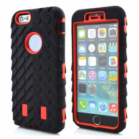 Heavy Duty Hybrid Tire Pattern Rugged Rubber Hard Case Cover for 4.7