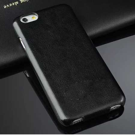 Crazy Horse Grain Top Flip Leather Case for iPhone 6/6S 4.7inch - Black