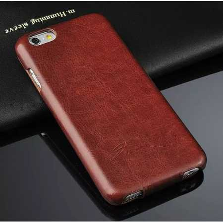Crazy Horse Grain Top Flip Leather Case for iPhone 6/6S 4.7inch - Brown
