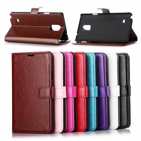 Crazy Horse Leather Wallet Style Case For Samsung Galaxy Note 4