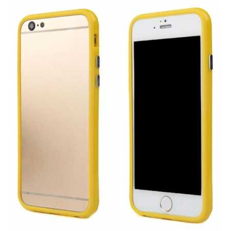 Soft TPU Bumper Frame Case for iPhone 6 4.7inch - Yellow