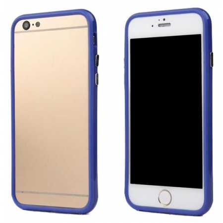 Soft TPU Bumper Frame Case for iPhone 6 Plus/6S Plus 5.5inch - Dark blue