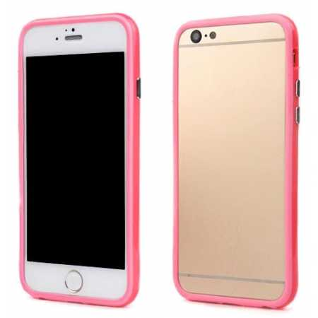 Soft TPU Bumper Frame Case for iPhone 6 Plus/6S Plus 5.5inch - Pink