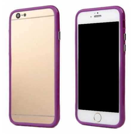 Soft TPU Bumper Frame Case for iPhone 6 Plus/6S Plus 5.5inch - Purple