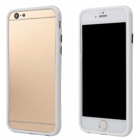 Soft TPU Bumper Frame Case for iPhone 6 Plus/6S Plus 5.5inch - White