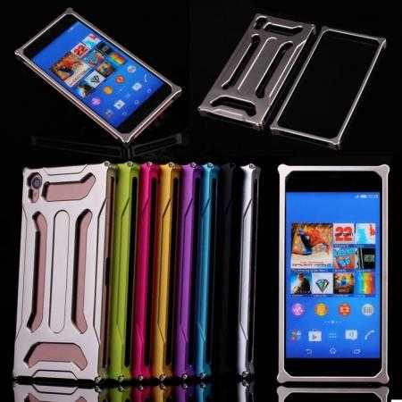 Luxury All Metal Bumper Aluminum Back Case Cover for Sony Xperia Z3