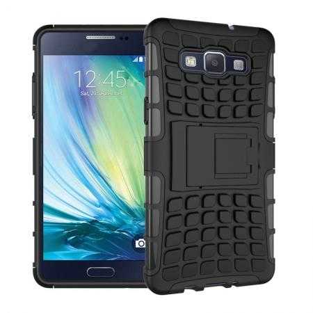 Heavy Duty Strong Tradesman TPU Hard Case Cover Stand For Samsung Galaxy A5 - Black