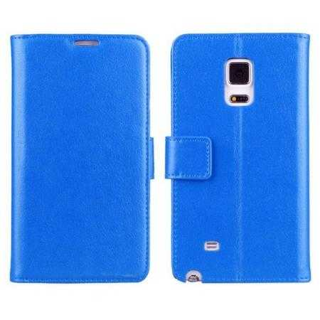 High quality Lychee Wallet Style Leather Case Flip Stand For Samsung GALAXY Note Edge N9150 - Blue