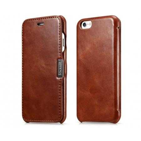 ICARER Vintage Series Cowhide Genuine Leather Case for iPhone 6/6S 4.7inch - Brown