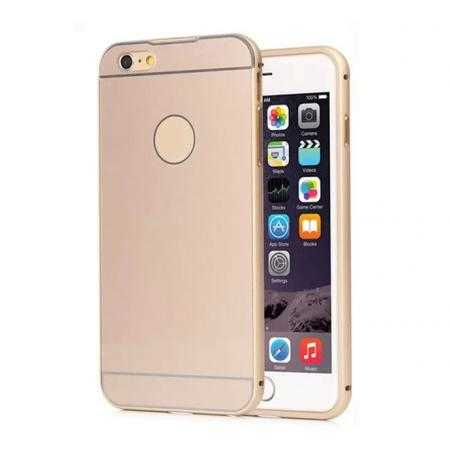 Ultra-thin Metal Aluminum bumper with PC Back Plate Cover Case for iPhone 6/6S 4.7inch - Champagne