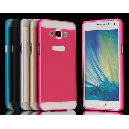 Aluminum Metal Bumper with PC Back Plate Cover Case For Samsung Galaxy A5