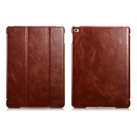 ICARER Vintage Series Genuine Leather Smart Stand Case For iPad Air 2 - Brown