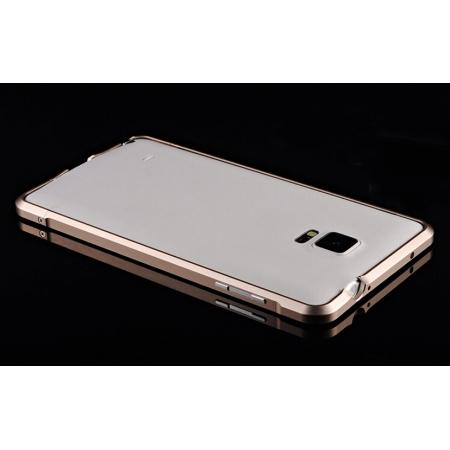 best service 73f58 a518a Luxury Aluminum Metal Bumper Frame Case For Samsung Galaxy Note 4 - Gold