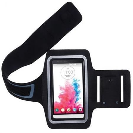 Neoprene Sport Running Armband Case Cover Holder for LG G3 - Black