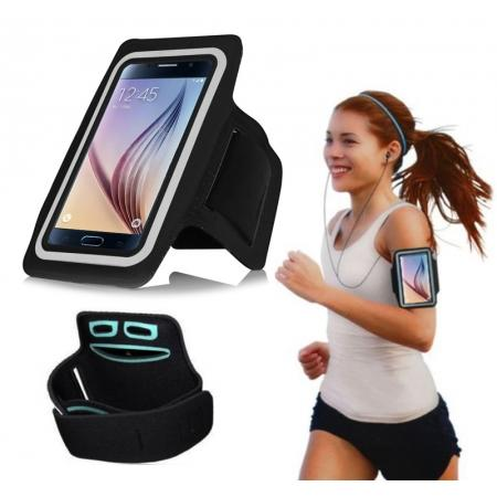 Neoprene Sport Running Armband Case for Samsung Galaxy S6/S6 Edge - Black