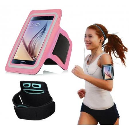 Neoprene Sport Running Armband Case for Samsung Galaxy S6/S6 Edge - Pink