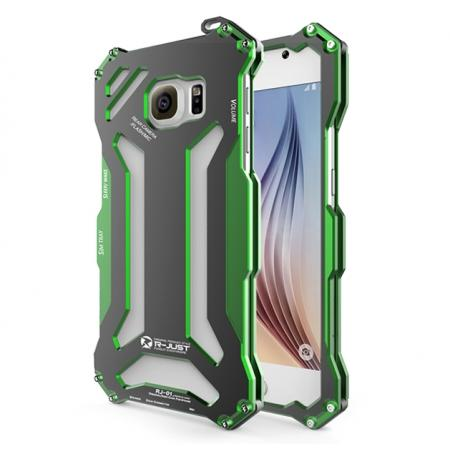 R-JUST Gundam Series All Aluminum Metal Frame Case for Samsung Galaxy S6 - Green
