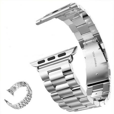 Luxury Stainless Steel Classic Buckle Watch Strap Band For Apple Watch