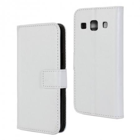 Crazy Horse Texture Stand Pu Leather Case for Samsung Galaxy Core Plus G3500 with Card Slots - White