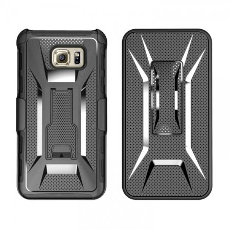 Hybrid Armor Combo Holster Case Cover With Belt Clip Stand For Samsung Galaxy Note 5 - Black