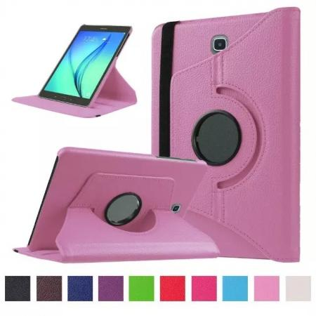 360 Degree Rotating Leather Smart Case For Samsung Galaxy Tab S2 9.7 T815 - Pink