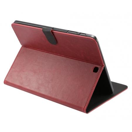 Luxury Crazy Horse Leather Flip Stand Case for Samsung Galaxy Tab S2 9.7 T815 - Red