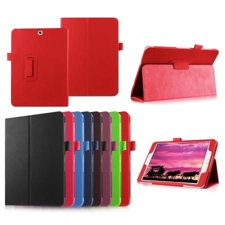 Lychee Leather Folio Case Protector Cover For Samsung Galaxy Tab S2 9.7 T815