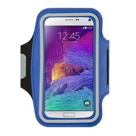 Gym Running Sports Armband Case For Samsung Galaxy Note 5 - Blue