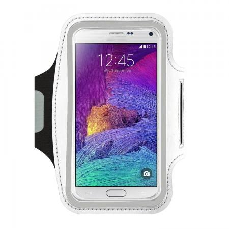 Gym Running Sports Armband Case For Samsung Galaxy Note 5 - White