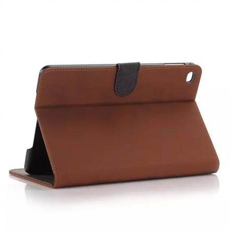 Luxury Retro Pu Leather Smart Case Stand Cover for Apple iPad mini 4 - Brown