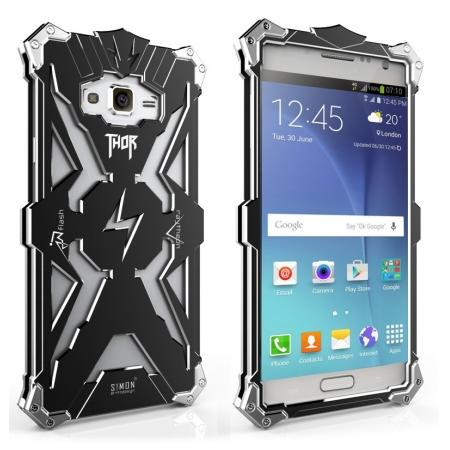 Original authentic Rugged Thor Aluminum Metal Case For Samsung Galaxy J7 - Black