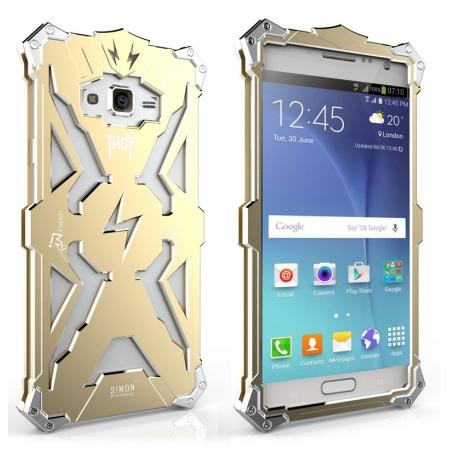 Original authentic Rugged Thor Aluminum Metal Case For Samsung Galaxy J7 - Gold