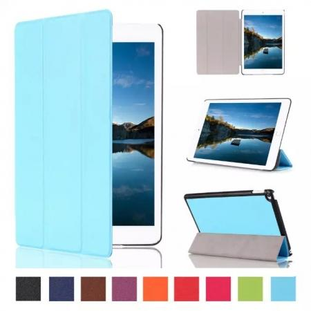 Ultra thin Smart 3-Folding Stand Leather Case For iPad mini 4 - Light blue