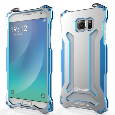 R-JUST Gundam Series All Aluminum Metal Case for Samsung Galaxy Note 5 - Blue