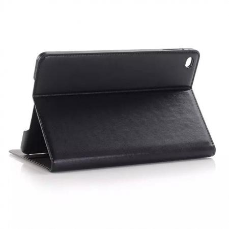 Crazy Horse Pattern Pu Leather Stand Case for iPad mini 4 With Card Slots - Black