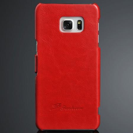 Crazy Horse Ultra Slim PU Leather Side Flip Case for Samsung Galaxy S6 Edge+/Plus - Red