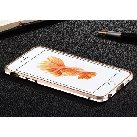 Double Color Premium Aluminum Metal Bumper Frame Case For iPhone 6s Plus - Champagne