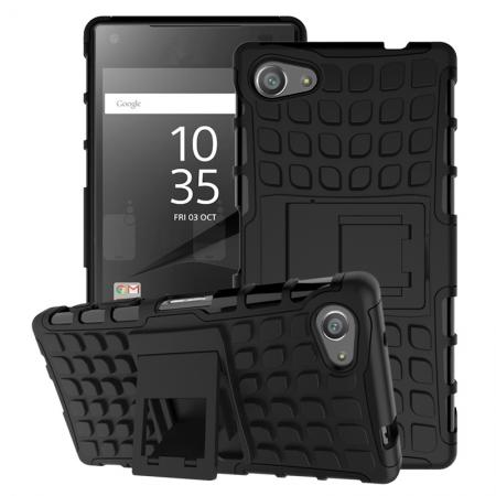 Shockproof Rugged Dual-Layer Case with stand For Sony Xperia Z5 Compact/Z5mini - Black