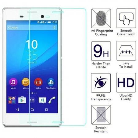2.5D Round Edge 0.3mm Ultra Slim Tempered Glass Screen Protector for Sony Xperia M4 Aqua